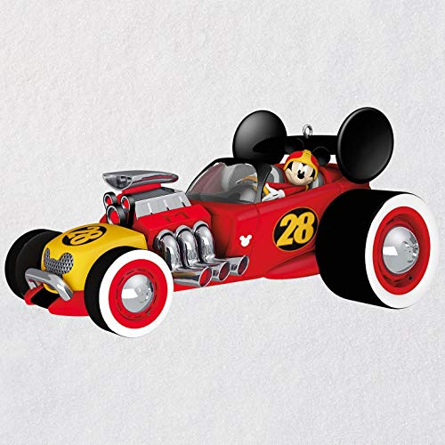 Hallmark Keepsake Christmas Ornament 2018 Year Dated, Disney Junior Mickey and The Roadster Racers