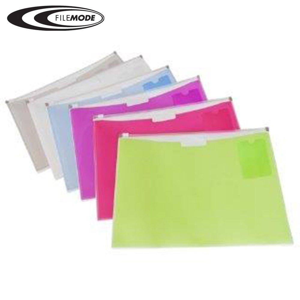 Filemode Fashion Zip Legal Size Envelope, 2 Pocket AE90670