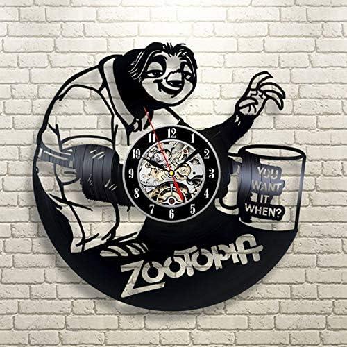 Linzewang Zoo Cool Clock Cartoon Wall Clock Creative Wall Clock Retro Handmade Art Clock Black Amazon Co Uk Kitchen Home