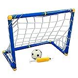 PowerLead Easy Score Soccer Set Portable Folding Children Kid Goal Football Door Set