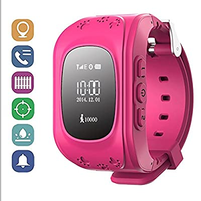 GBD GPS Tracker Kids Smartwatch Wrist Sim Watch Phone Anti-lost SOS Gprs Children Bracelet Parent Control By Apple Iphone IOS Android Smartphone