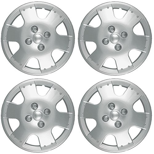 14 inch Hubcaps Best for 2000-2002 Toyota Tundra - (Set of 4) Wheel Covers 14in Hub Caps Silver Rim Cover - Car Accessories for 14 inch Wheels - Snap On Hubcap, Auto Tire Replacement Exterior Cap)