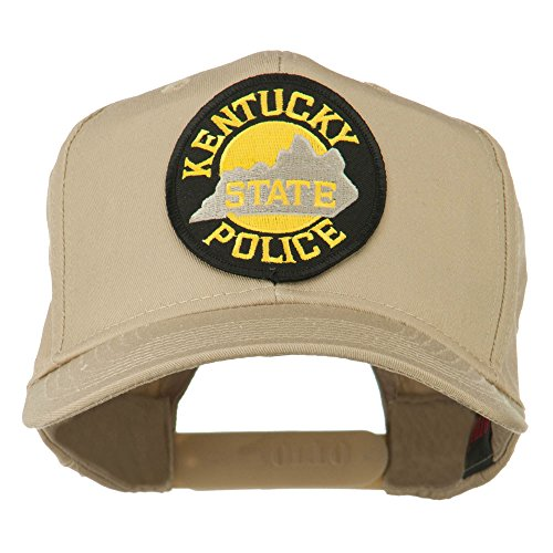 (Kentucky State Police Patched High Profile Cap - Khaki OSFM)