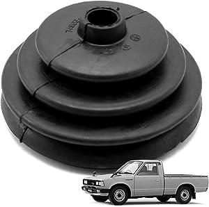 Nonstops Rubber Gear Shift Lever Boot Cover Black for Datsun 720 Pickup 1980-1991 Black