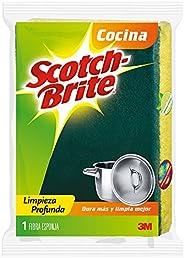 3M Scotch-Brite Fibra Esponja Aroma Limón, Tamaño Chico