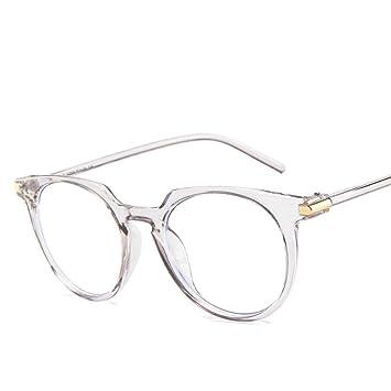como escoger diseño moderno comprar lujo XCYQ Montura De Gafas Gafas Transparentes Redondas Mujeres ...