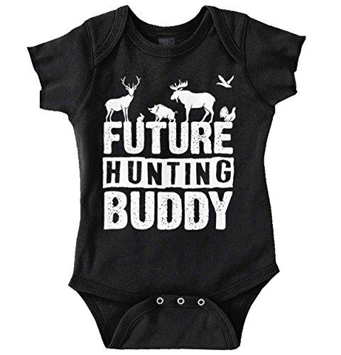 Future Hunting Buddy | Deer Hunter Camo Deer Hunt Country Romper ()