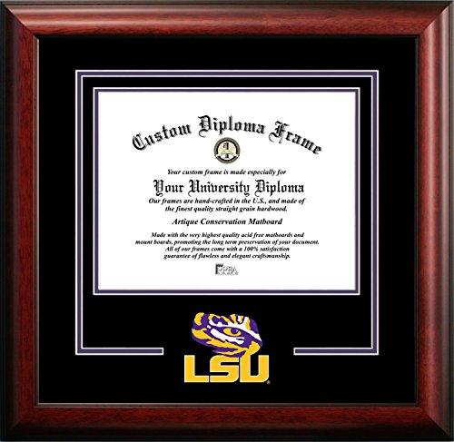 Ncaa Diploma Frame - NCAA LSU Tigers Spirit Diploma Frame, 8.5 x 11
