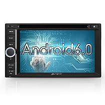 PUMPKIN 2 Din Android 6.0 Autoradio Moniceiver DVD Player mit GPS Navigation Unterstützt Bluetooth DAB+ OBD2 Wifi 3G USB SD 6,2 ZollUniversal(CN10-02201B)