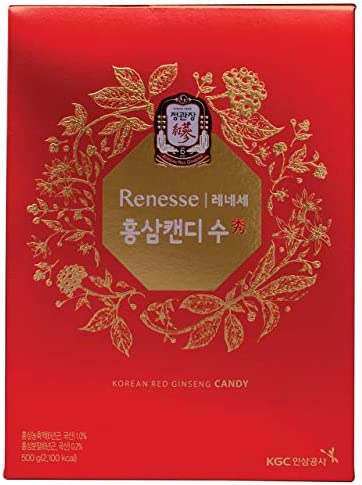 KGC Cheong Kwan Jang Renesse Korean Red Ginseng Extract Mint Hard Candy 83 Count – 500gram