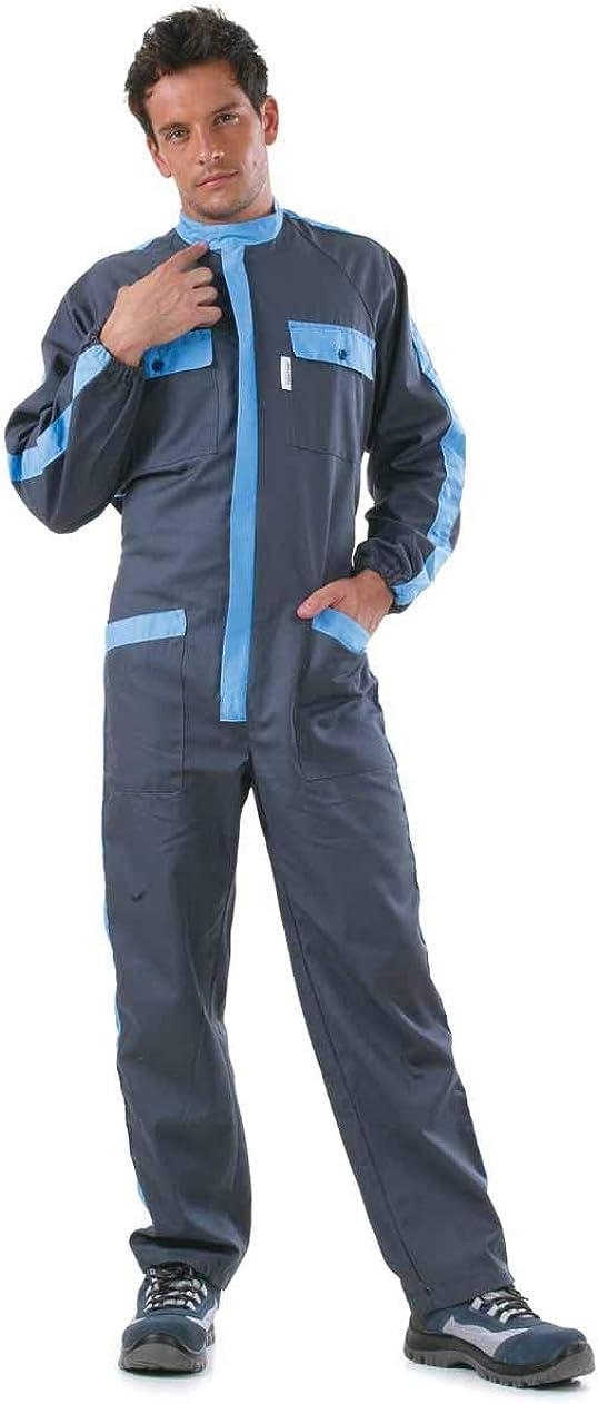Rossini Trading Tuta officina lavoro meccanico gommista colore grigio azzurro tg dalla S alla XXL