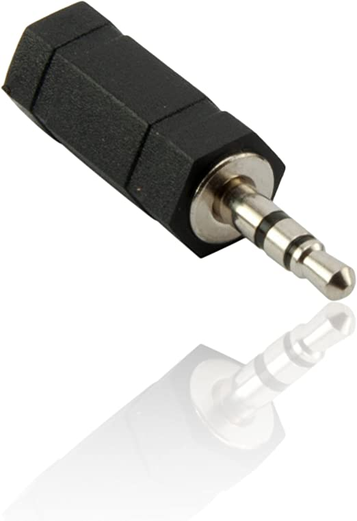 Cdl Micro Adapter 2 5 Mm Mono Buchse Auf 3 5 Mm Klinkenstecker Schwarz