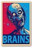 NMR 24969 Zombie Brains Decorative Poster