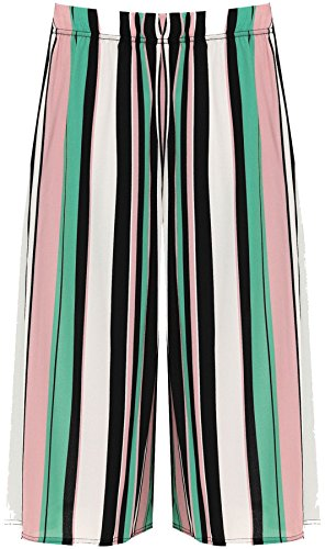 FASHION Stripe REAL LTD Pantaloncini Donna Green Print LIFE Bq1q4