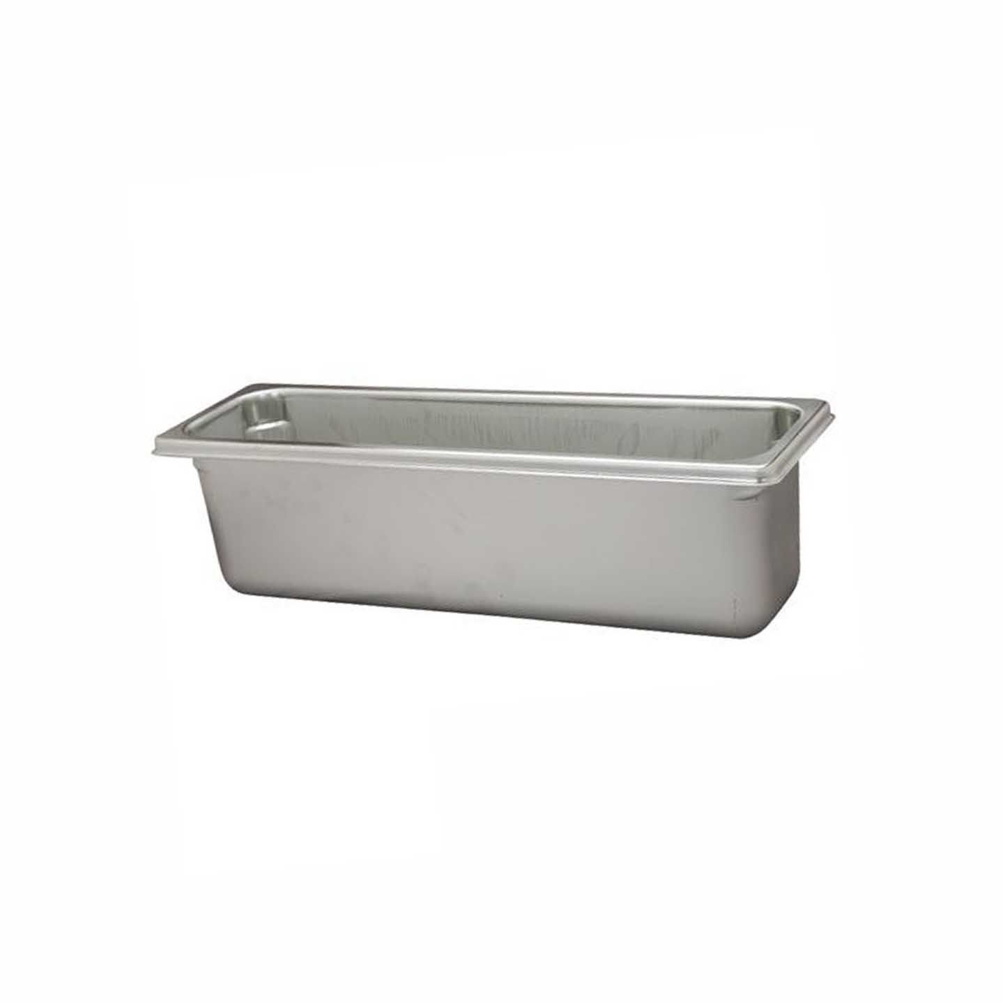 Paderno World Cuisine 12 3/4 inches by 7 1/8 inches Stainless-steel Hotel Pan - 1/3 (depth: 2 1/2 inches)