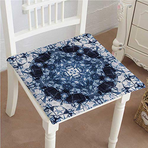 (Chair Pads Classic Design Tie Dye Microcosm Motif Generated with Volume Active Rough Effect Cotton Canvas Futon 18