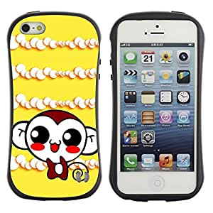 LASTONE PHONE CASE / Suave Silicona Caso Carcasa de Caucho Funda para Apple Iphone 5 / 5S / Cute Monkey Laugh