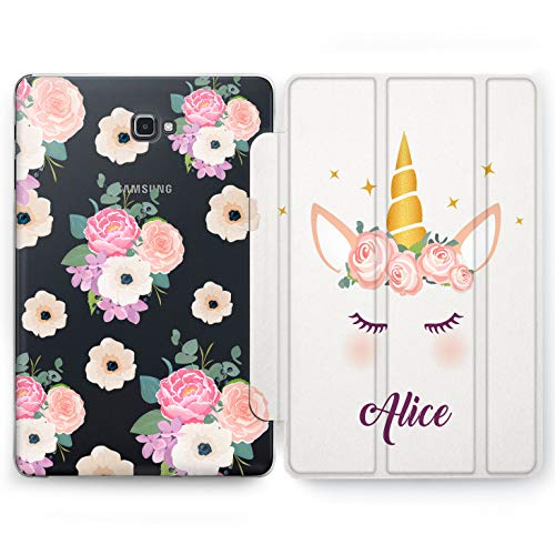 Wonder Wild Unicorns Name Samsung Galaxy Tab S4 S2 S3 A E Smart Stand Case 2015 2016 2017 2018 Tablet Cover 8 9.6 9.7 10 10.1 10.5 Inch Clear Design Custom Monogram Flowered Narwhal Mythical Princess (S2 Samsung Princess Case Galaxy)