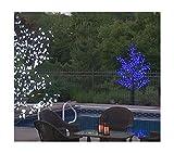 8.5' Pre-Lit LED Outdoor Christmas Tree Decoration - Blue Flower Lights