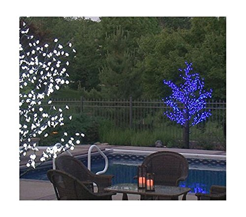 8.5' Pre-Lit LED Outdoor Christmas Tree Decoration - Blue Flower Lights by Sterling