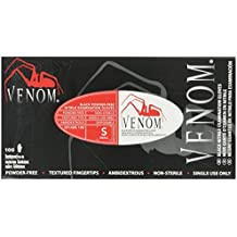 Medline Venom Non-Sterile Powder-Free Latex-Free Nitrile Exam Gloves, Black