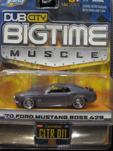70 Ford Mustang Boss 429 (metallic gray) Dub City Bigtime Muscle By Jada - 70 Boss 429 Mustang
