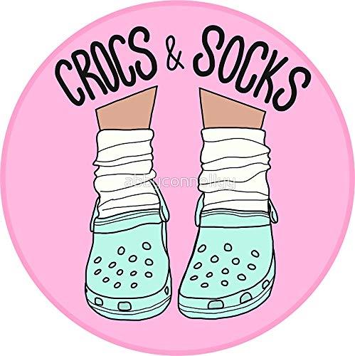 - LA STICKERS Crocs and Socks - Sticker Graphic - Auto, Wall, Laptop, Cell, Truck Sticker for Windows, Cars, Trucks