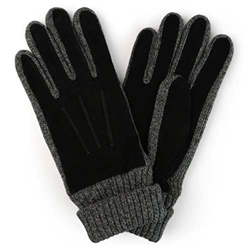 Daxx Mens Lined Fashion Leather Suede Driving Gloves - Daxx Leather
