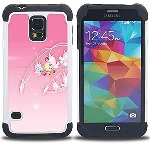 """Hypernova Híbrido Heavy Duty armadura cubierta silicona prueba golpes Funda caso resistente Para SAMSUNG Galaxy S5 V / i9600 / SM-G900 [Princesa rosada linda""""]"""