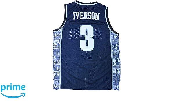 MHTJ AB Mens Iverson Jerseys #3 Basketball Jersey The University Sports Jerseys Gray