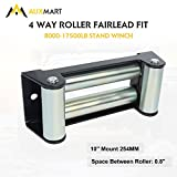 AUXMART Winch Roller Fairlead for Steel Cable 10'' Bolt Pattern