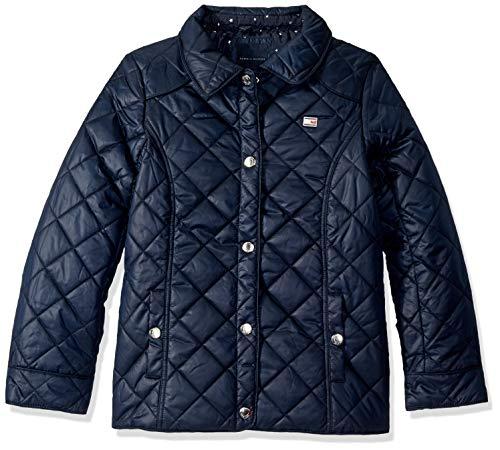 Tommy Hilfiger Big Girls' Diamond Quilted Barn Jacket, Swim Navy, X-Large16 (Designer Kids Clothing)