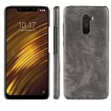 Ugood_ 2019 Shockproof Case, for Xiaomi PocoPhone F1 Slim Leather Soft Rubber Phone Cover Case (Gray)