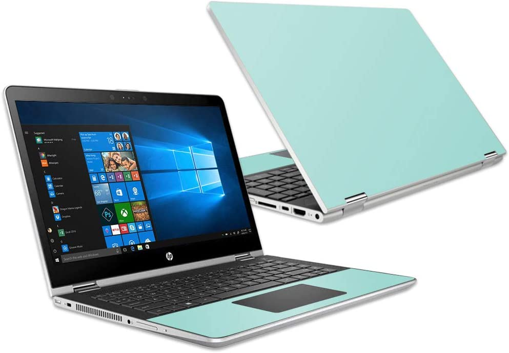 """MightySkins Skin Compatible with HP Pavilion x360 15.6"""" (2018) - Solid Seafoam 