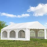Cheap DELTA Canopies 20'x16′ PVC Party Tent – Heavy Duty Wedding Canopy Gazebo Carport – with Storage Bags – By