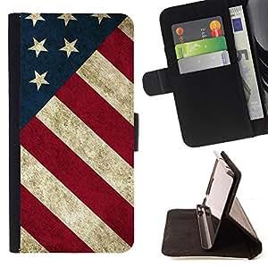 - Star Stripe Flag American Rustic Patriotic - - Prima caja de la PU billetera de cuero con ranuras para tarjetas, efectivo desmontable correa para l Funny HouseFOR Sony Xperia M2