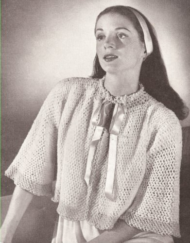 ERN to make - Crocheted Bed Jacket Sweater Cape. NOT a finished item. This is a pattern and/or instructions to make the item only. (Free Crochet Jacket Patterns)