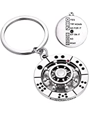 Key Chain Key Ring Spinning Key Chain dice Game Decision Maker Stress Reliever Fidget Toy Key Chain for Men Key Chain for Women Gift for Men Women Keychain for Boyfriend Keychain for Girlfriend