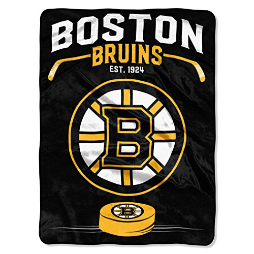 The Northwest Company Officially Licensed NHL Boston Bruins Inspired Plush Raschel Throw Blanket, 60