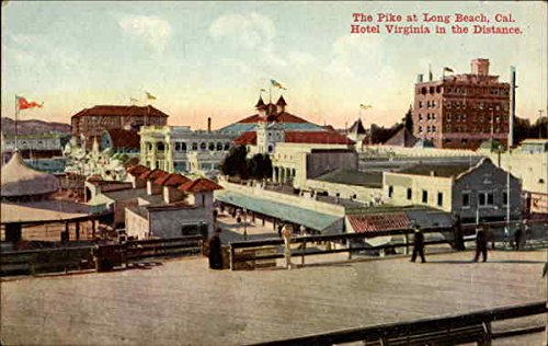 The Pike. Hotel Virginia in the Distance Long Beach, California Original Vintage - In Long Beach The California Pike