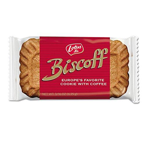 Biscoff Cookies Original Singles Dispenser (100 Cookies / 22 oz Total) (Carmel Stem)