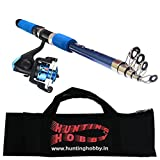 Fishing Spinning Rod, Reel, Free Travelling Bag (6 Feet)