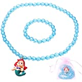 HH-Love-Kids Little Girls Mermaid Necklace Set , Princess Jewel Necklace, Stretch Toddler Necklace-Mermaid