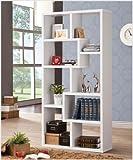 Multiple Cubed Rectangular Bookcase White