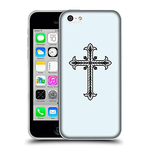 GoGoMobile Coque de Protection TPU Silicone Case pour // Q07770619 Christian Cross 2 Bulles // Apple iPhone 5C