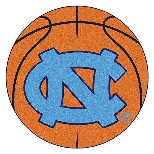 Fanmats Ncaa UNC University of North Carolina - Chapel Hill College Sports Team Logo Home Floor Decorative Basketball Shaped Area Rug Welcome Floor Mat Mat