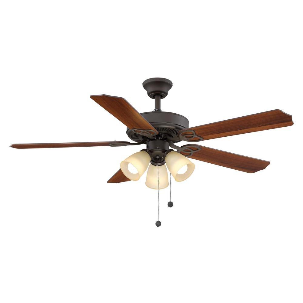 Hampton Bay YG268-ORB Brookhurst 52'' Oil Rubbed Bronze Ceiling Fan w/Light Kit