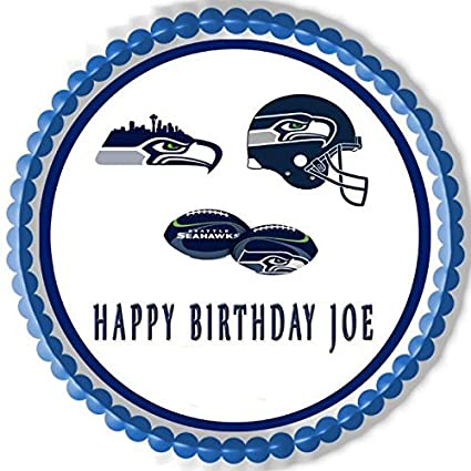 Image Unavailable Not Available For Color SEATTLE SEAHAWKS Edible Birthday Cake