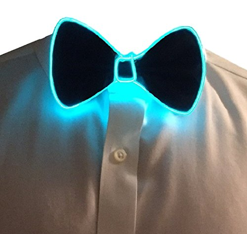GlowTies LED Bowties Costume Accessory for Halloween / Rave Party Gear Clothing (Green) (Halloween Rave)