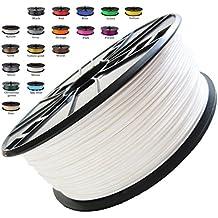 Melca 1.75 3D Printer Filament PLA 1kg +/- 0.03mm, White 1.75mm (#F4F4F4) - New